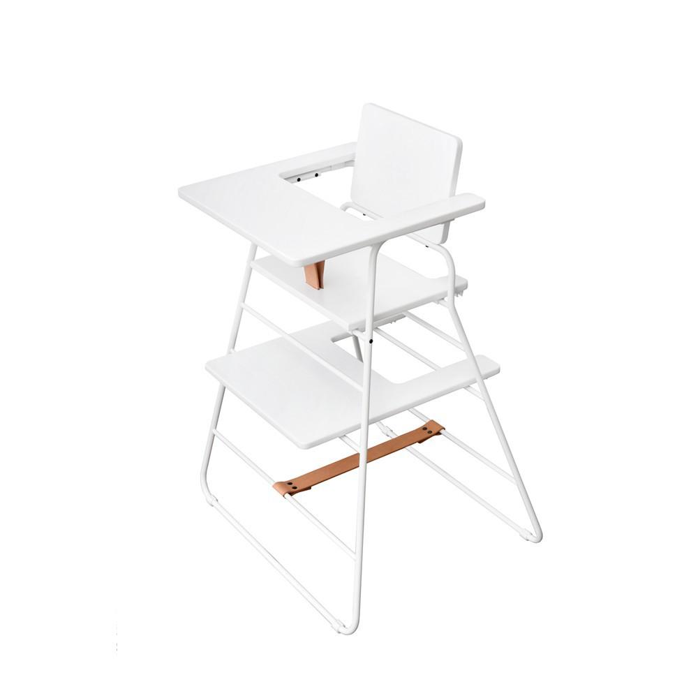 Chaise haute towerchair blanc budtzbendix design b b for Chaise haute fille