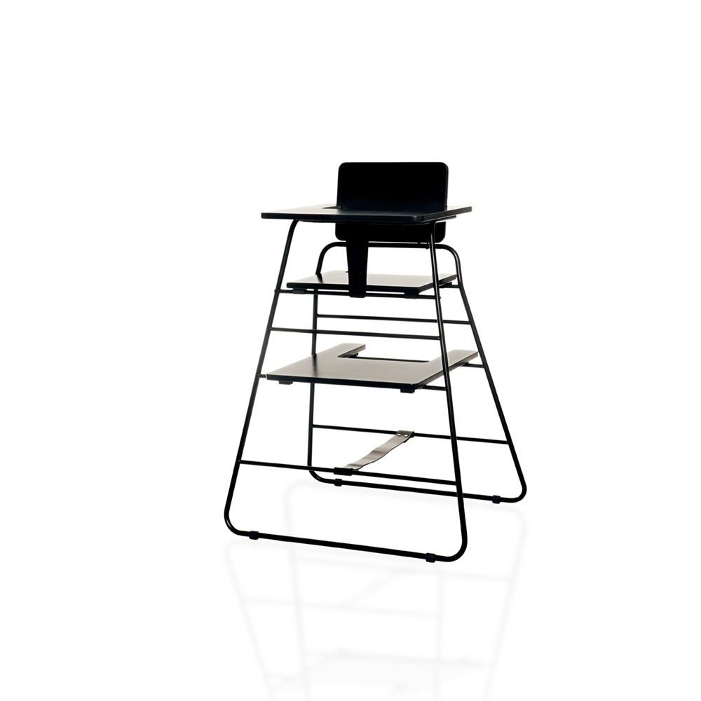 Chaise haute towerchair noir budtzbendix design b b - Chaise haute bebe design ...