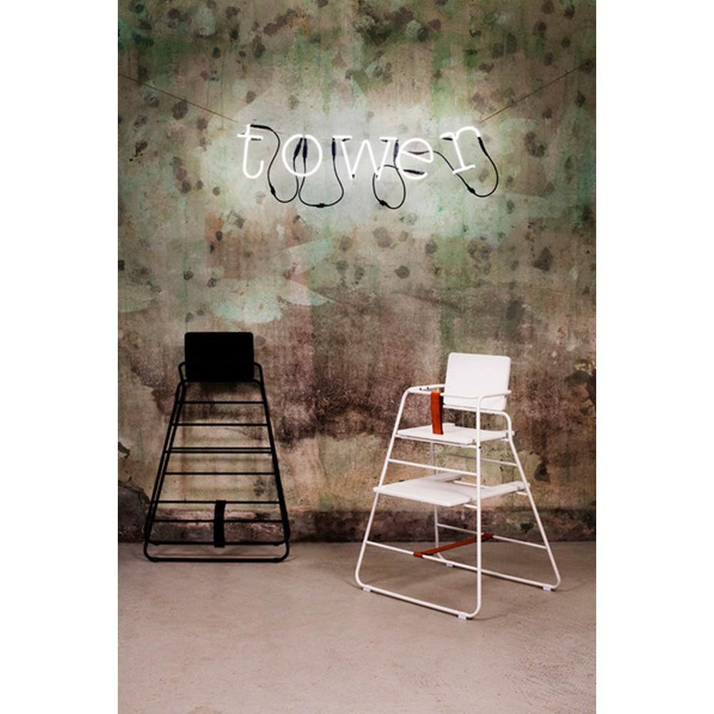 chaise haute towerchair noir budtzbendix design b b. Black Bedroom Furniture Sets. Home Design Ideas