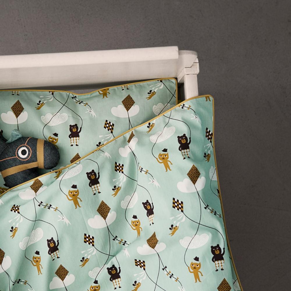 bettw sche kite junior mint ferm living design baby kind. Black Bedroom Furniture Sets. Home Design Ideas