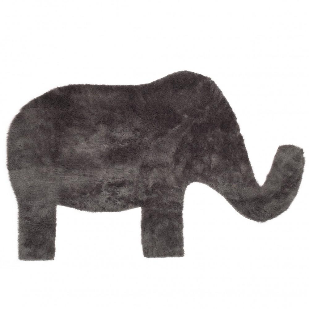 teppich elefant dunkelgrau pilepoil design kind. Black Bedroom Furniture Sets. Home Design Ideas