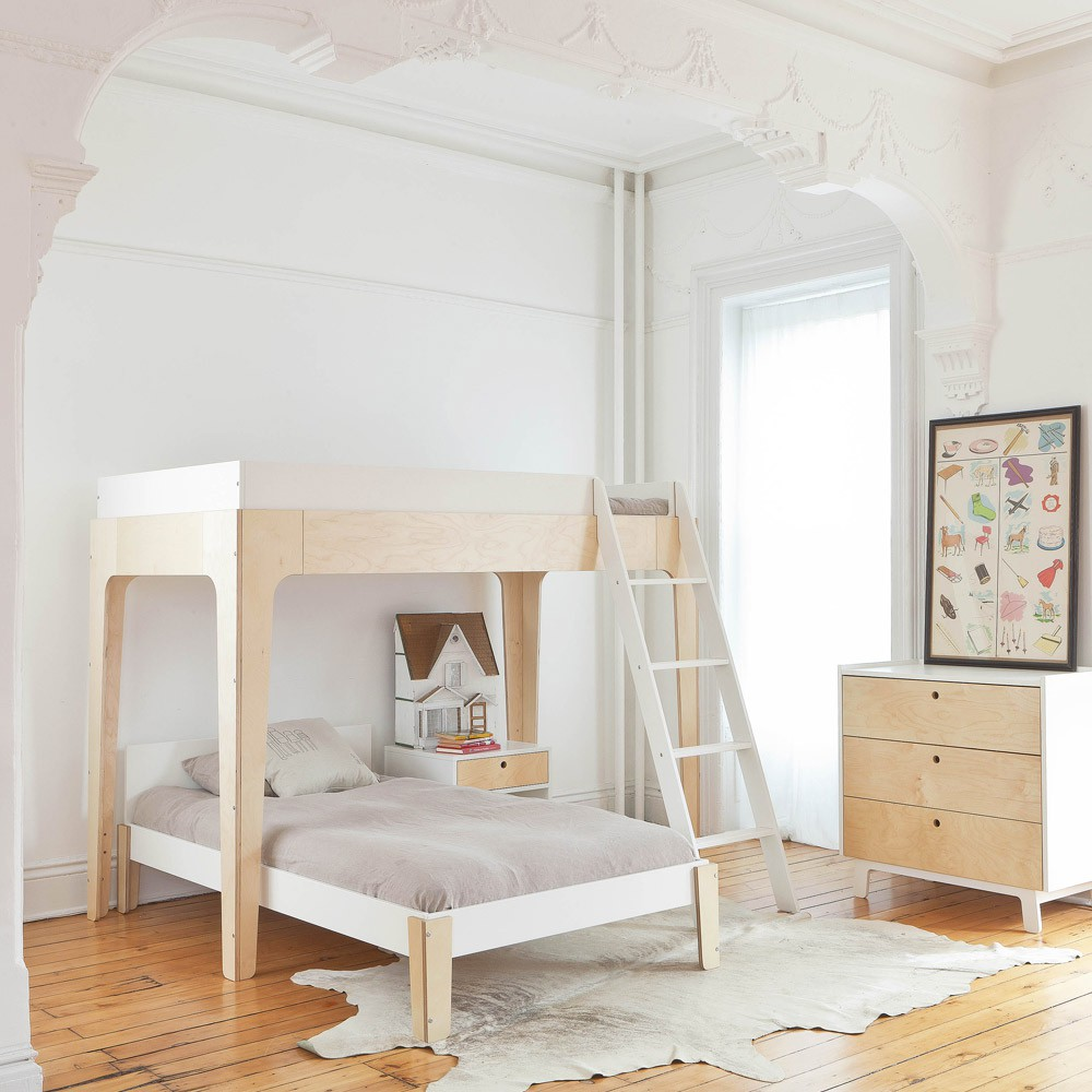 Lit superpos perch bouleau oeuf nyc design enfant for Petit lit mezzanine