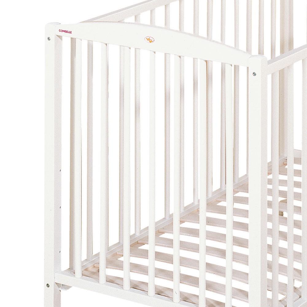 lit b b 60x120 cm laqu blanc blanc combelle design b b. Black Bedroom Furniture Sets. Home Design Ideas