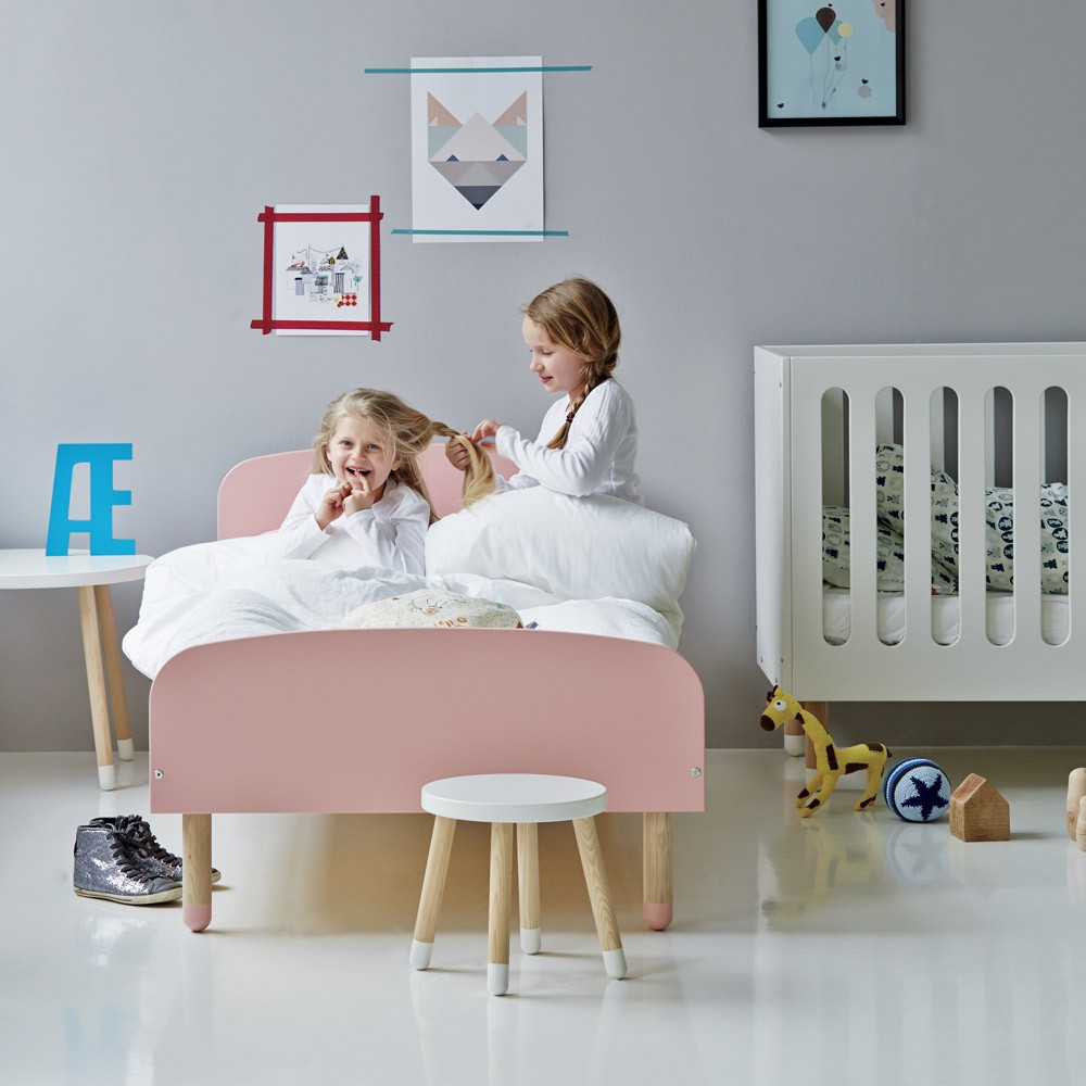 lit enfant 90x200 cm rose poudr flexa play design enfant. Black Bedroom Furniture Sets. Home Design Ideas