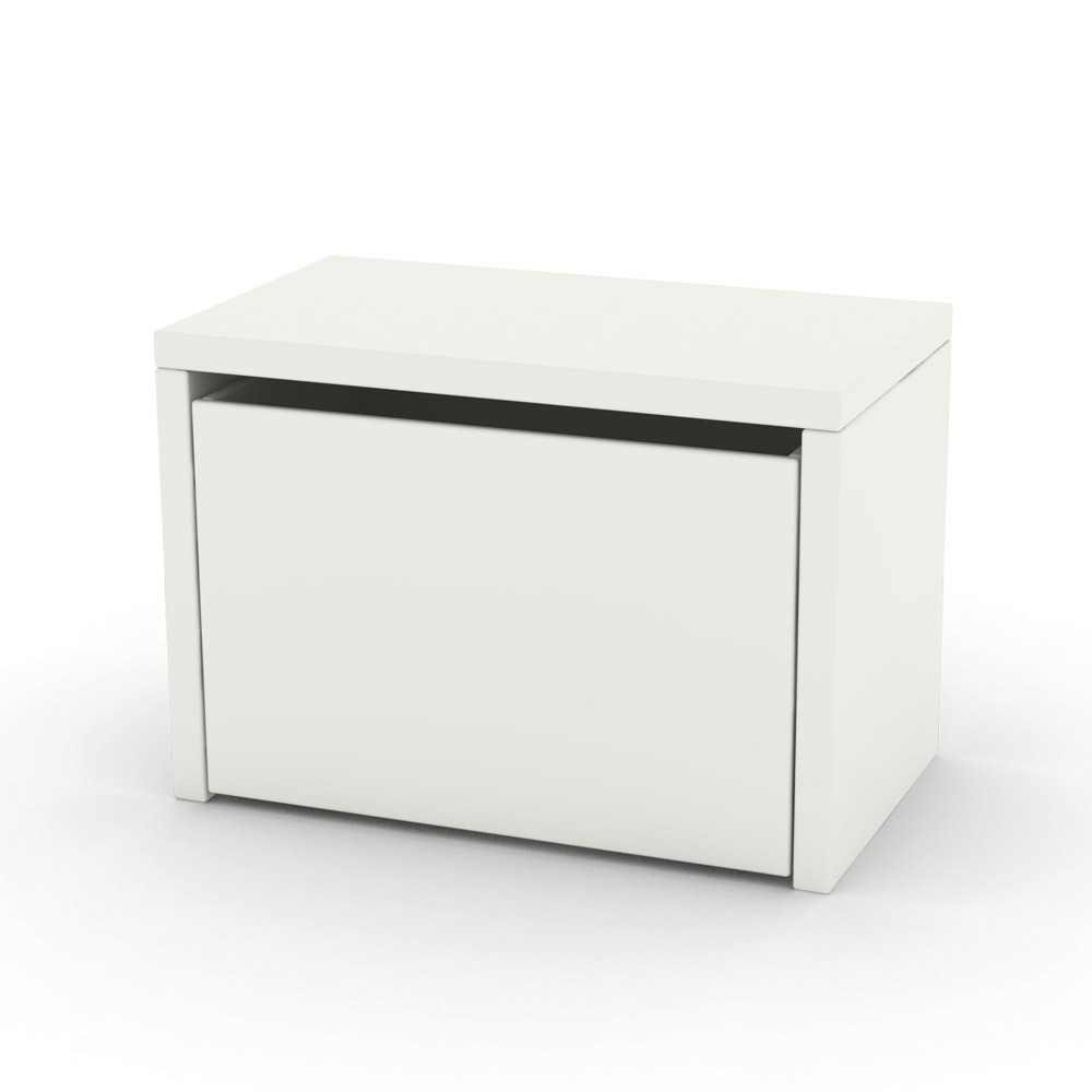 Table de chevet coffre de rangement blanc flexa play design for Mini table de chevet