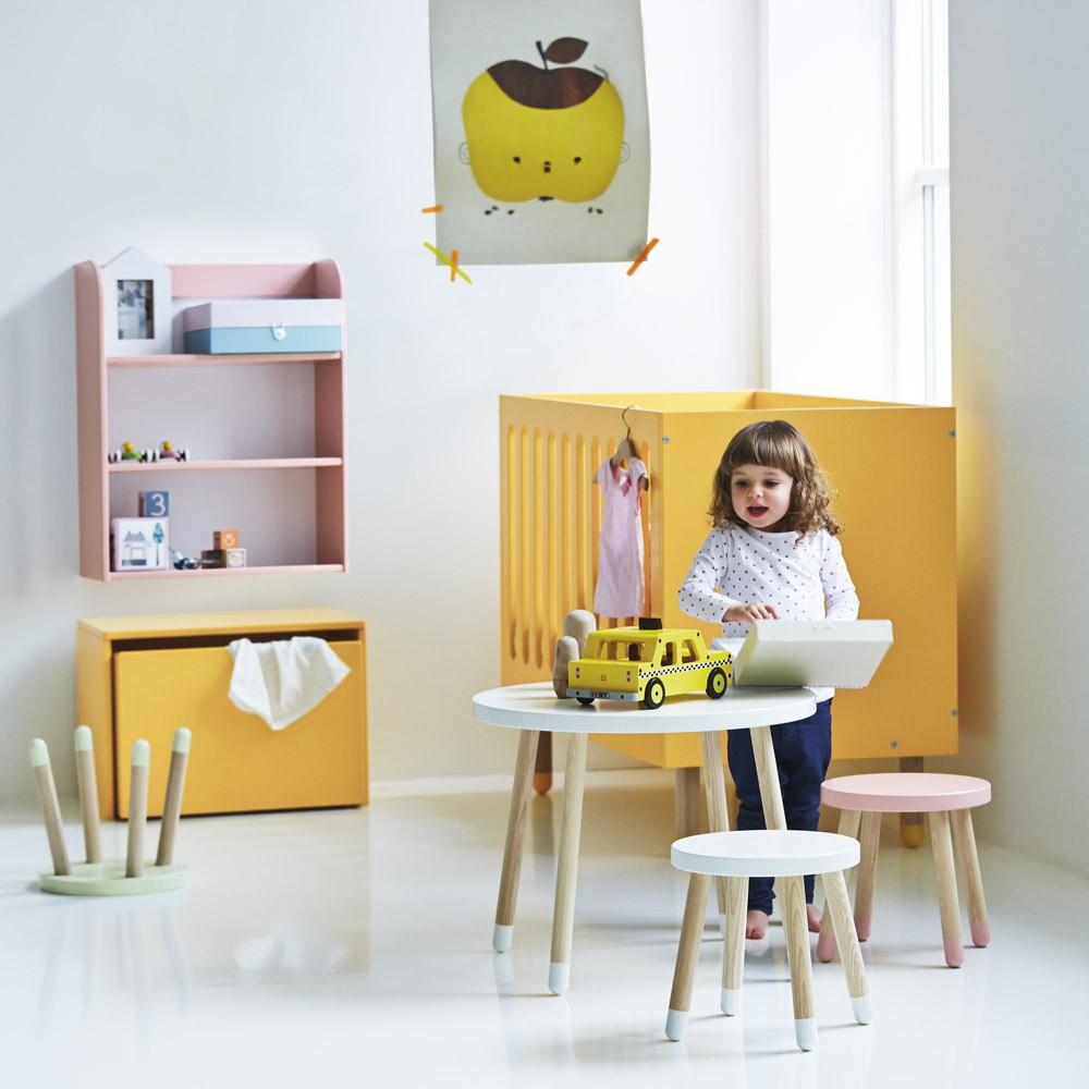 tabouret enfant blanc flexa play design enfant. Black Bedroom Furniture Sets. Home Design Ideas