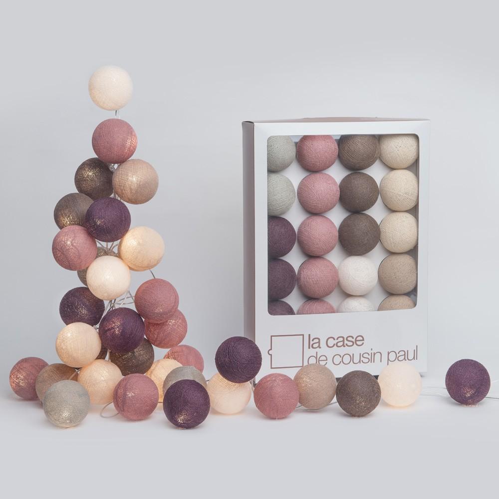 guirlande lumineuse 20 boules kensington la case de cousin paul. Black Bedroom Furniture Sets. Home Design Ideas