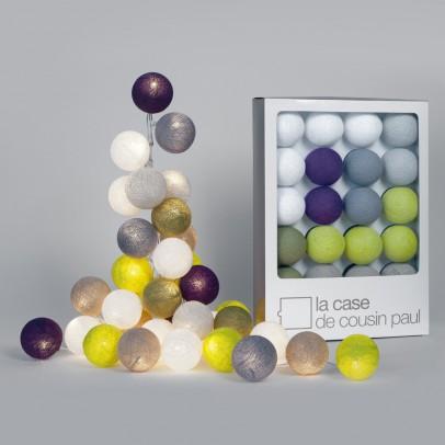 guirlande lumineuse 20 boules tao tong la case de cousin paul. Black Bedroom Furniture Sets. Home Design Ideas