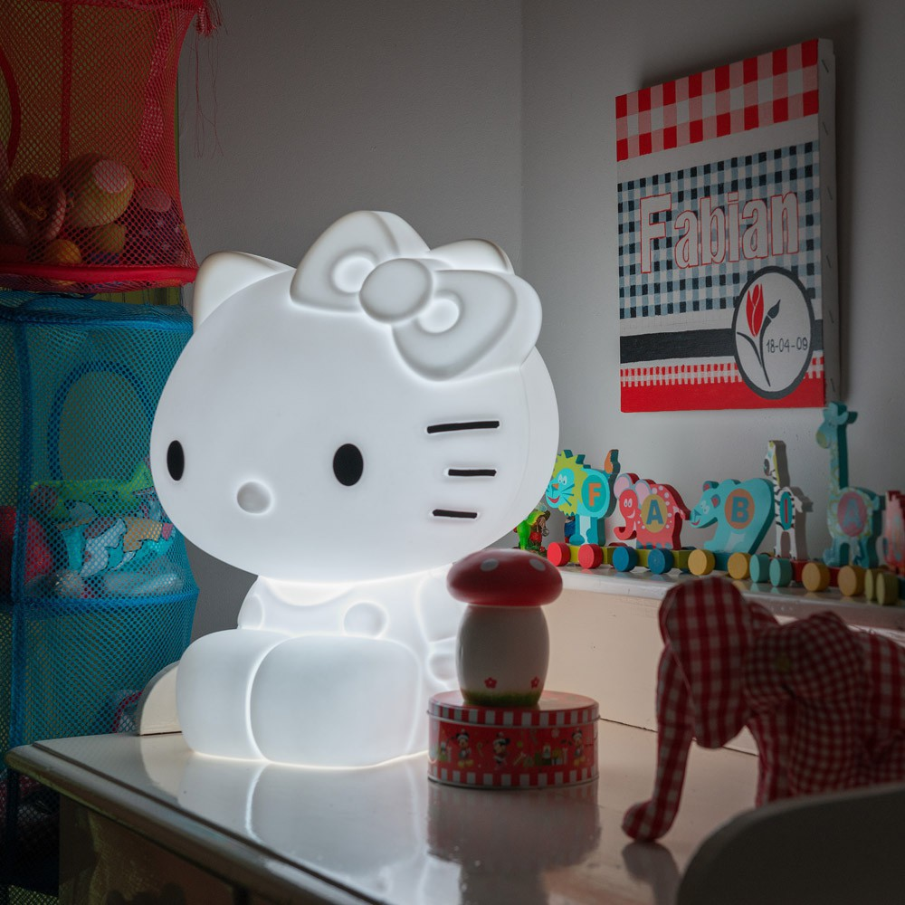 lampe led hello kitty base nl design enfant. Black Bedroom Furniture Sets. Home Design Ideas