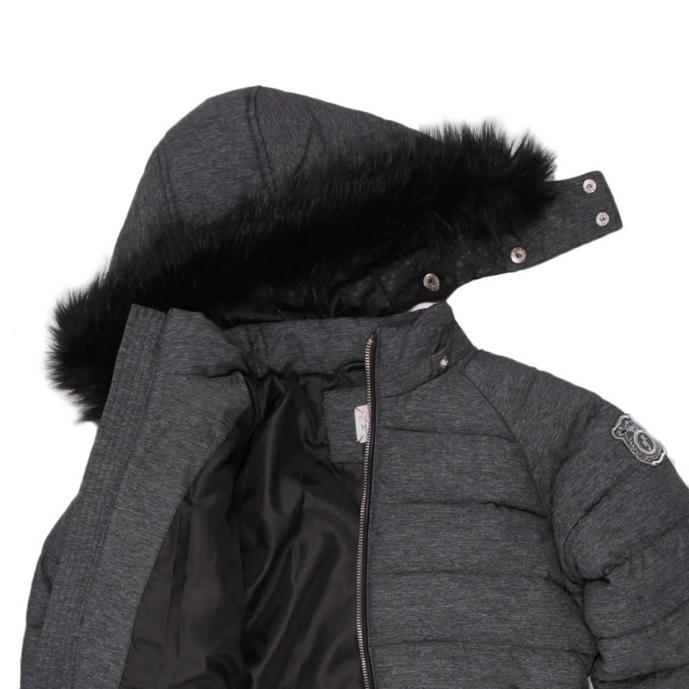 short dreamy down jacket ash grey little karl marc john. Black Bedroom Furniture Sets. Home Design Ideas