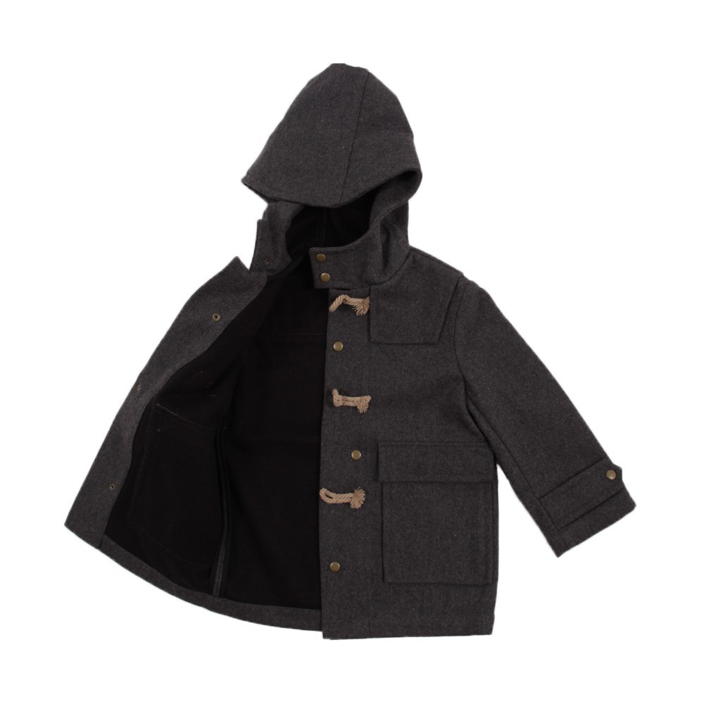 Duffle-coat Charcoal grey Talc Fashion Children