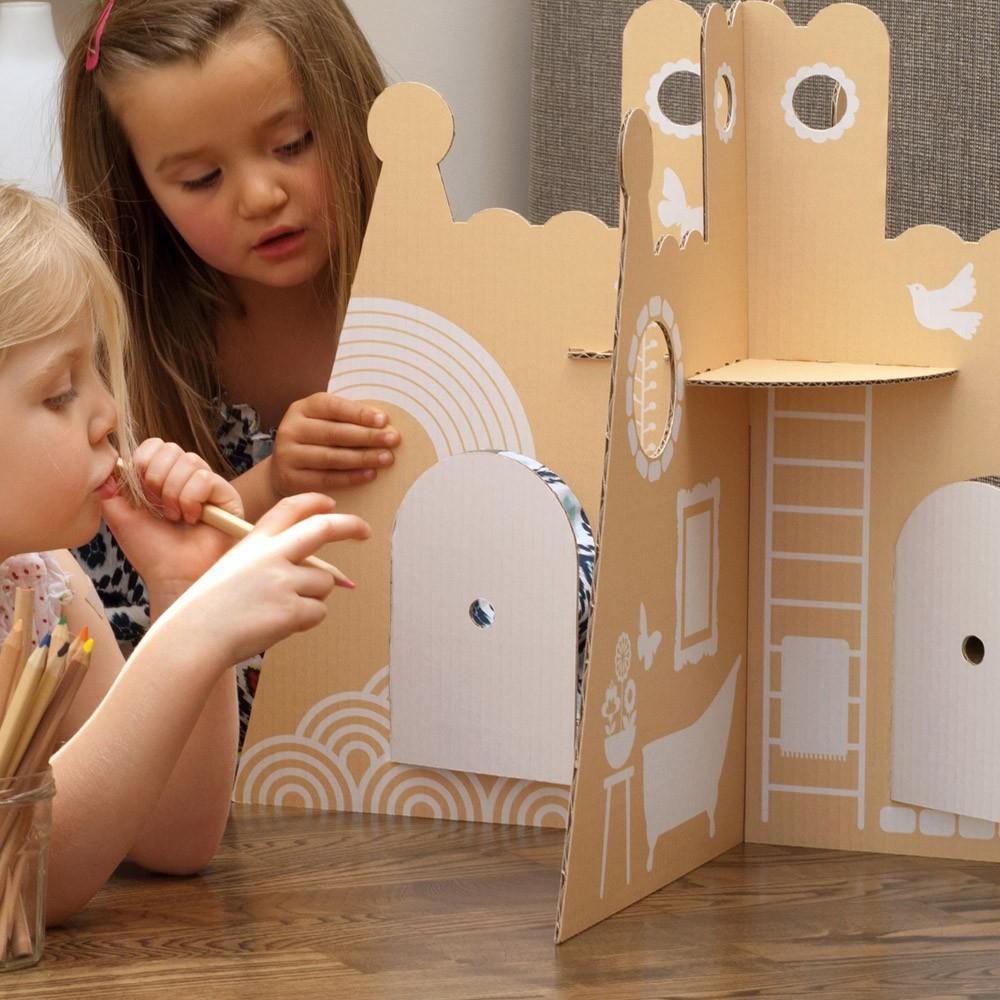 ch teau de princesse en carton flatout frankie jouet et loisir. Black Bedroom Furniture Sets. Home Design Ideas