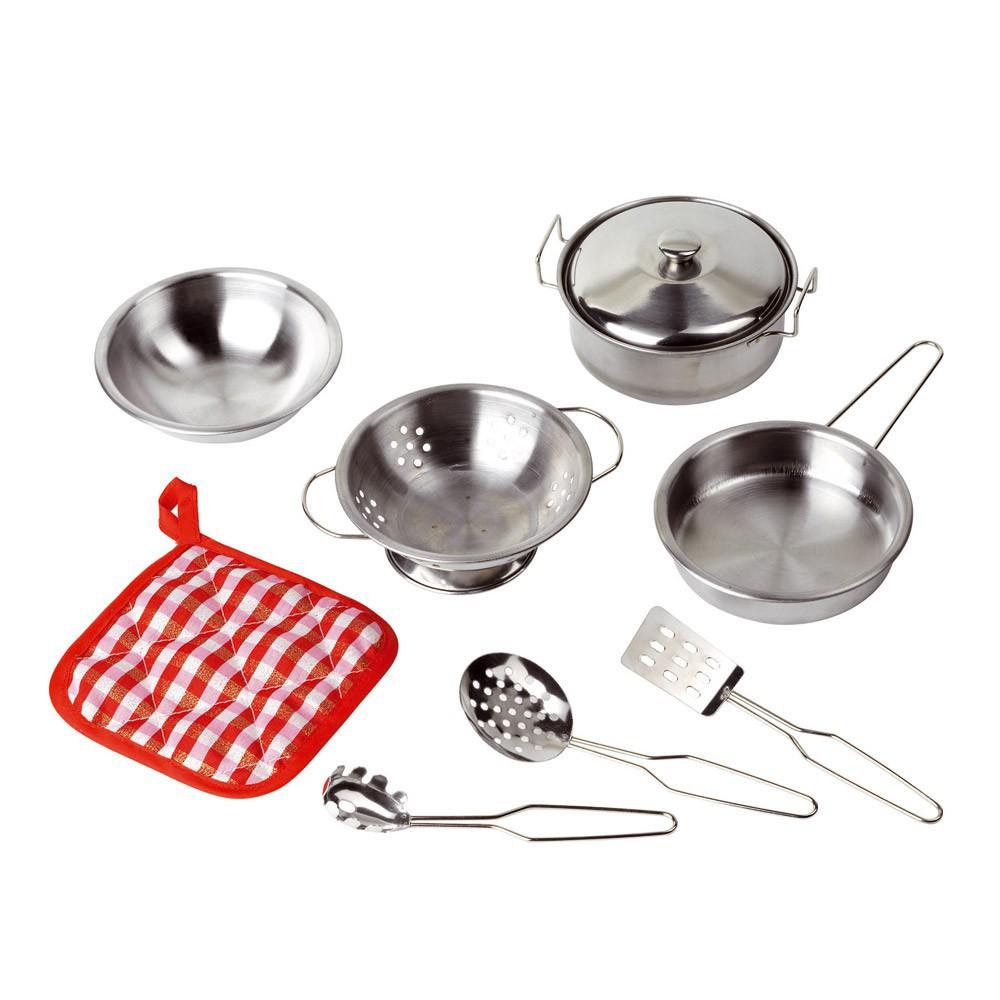 Batterie de cuisine en inox goki jouet et loisir adolescent - Batterie de cuisine inox ...