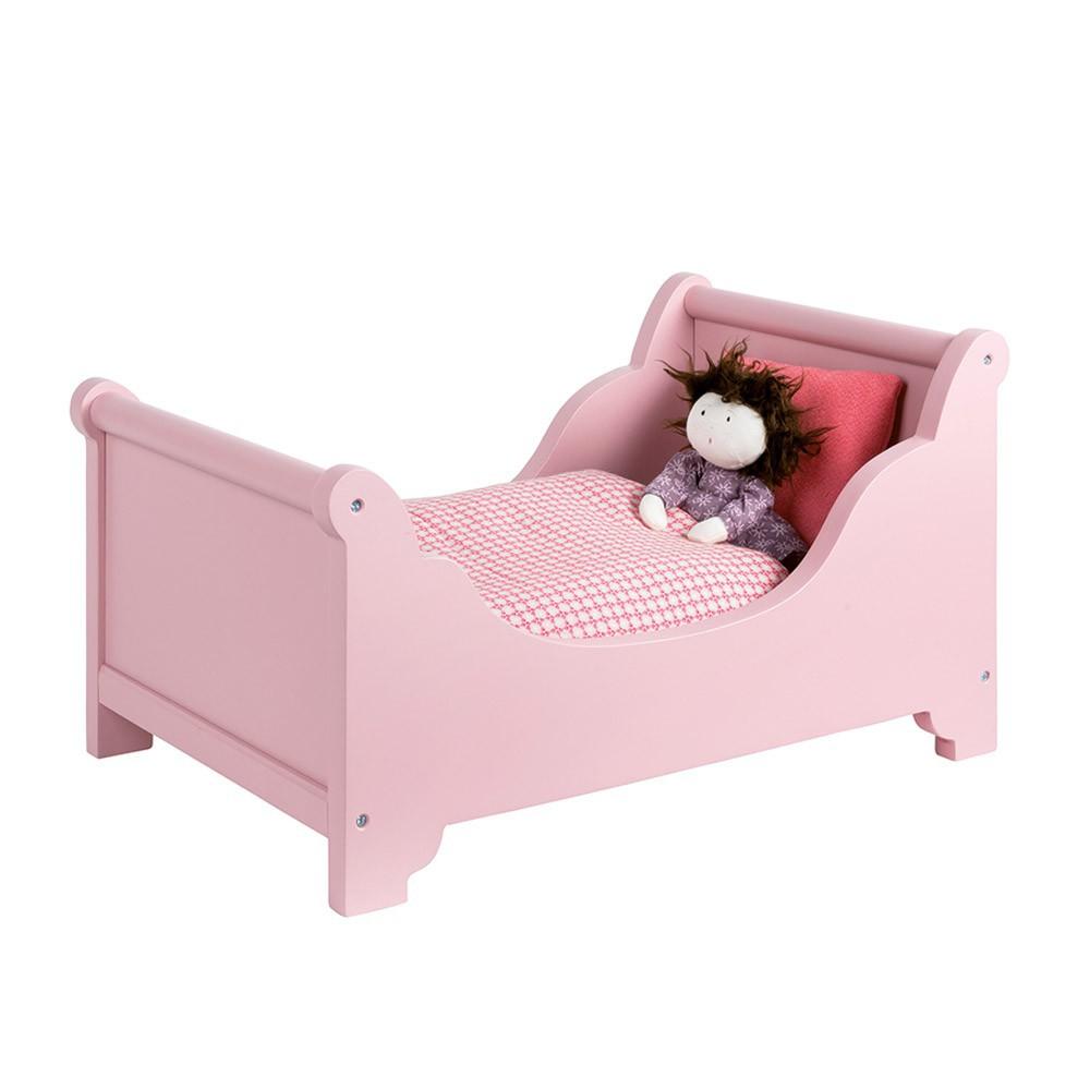 lit de poup e avec parure de lit moulin roty jouet et loisir. Black Bedroom Furniture Sets. Home Design Ideas