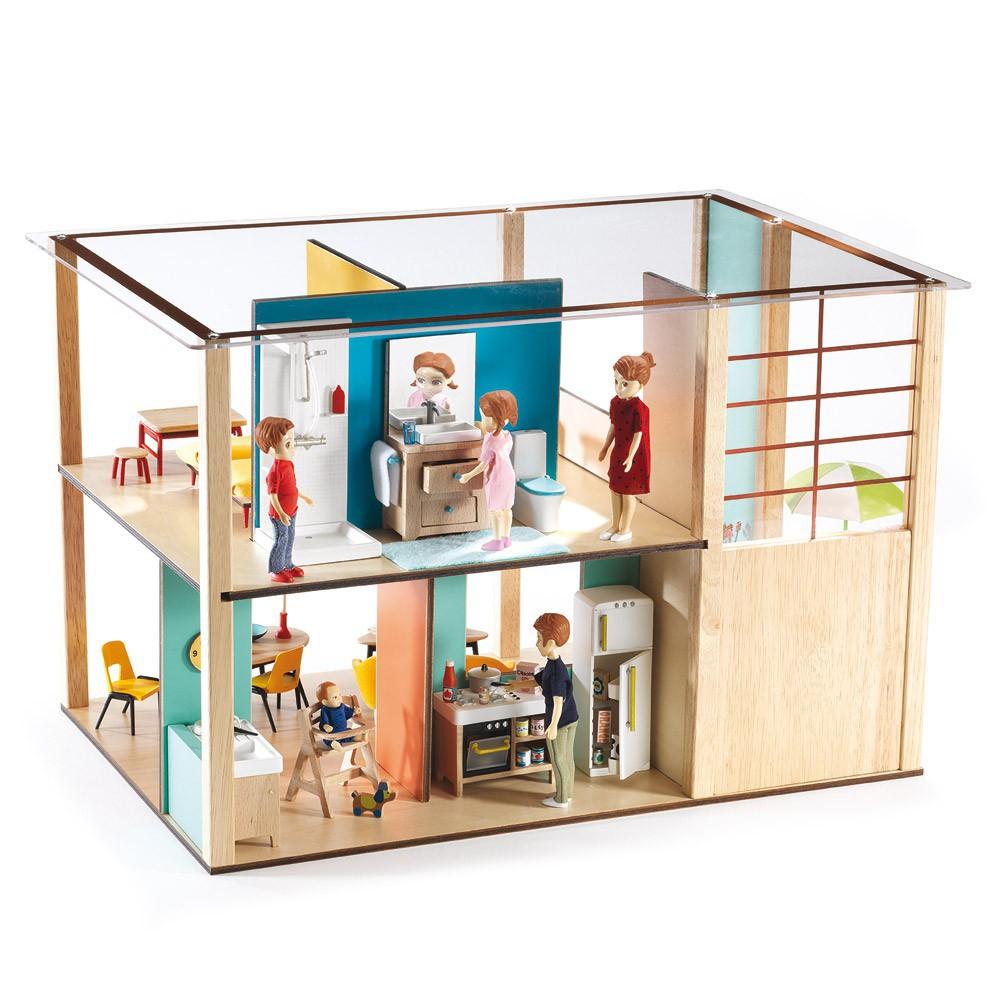 puppenhaus cubic house djeco spiele und freizeit kind. Black Bedroom Furniture Sets. Home Design Ideas