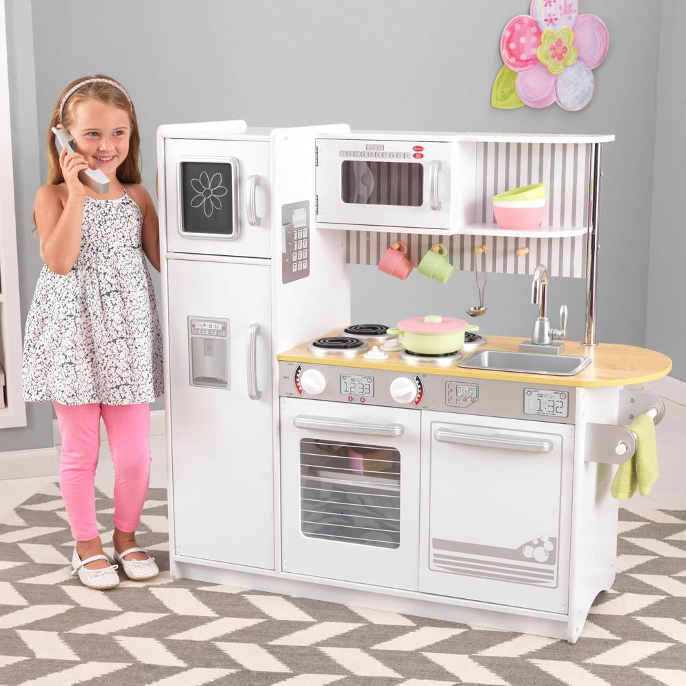 Cuisine uptown blanche kidkraft jouet et loisir enfant for Cuisine enfant blanche