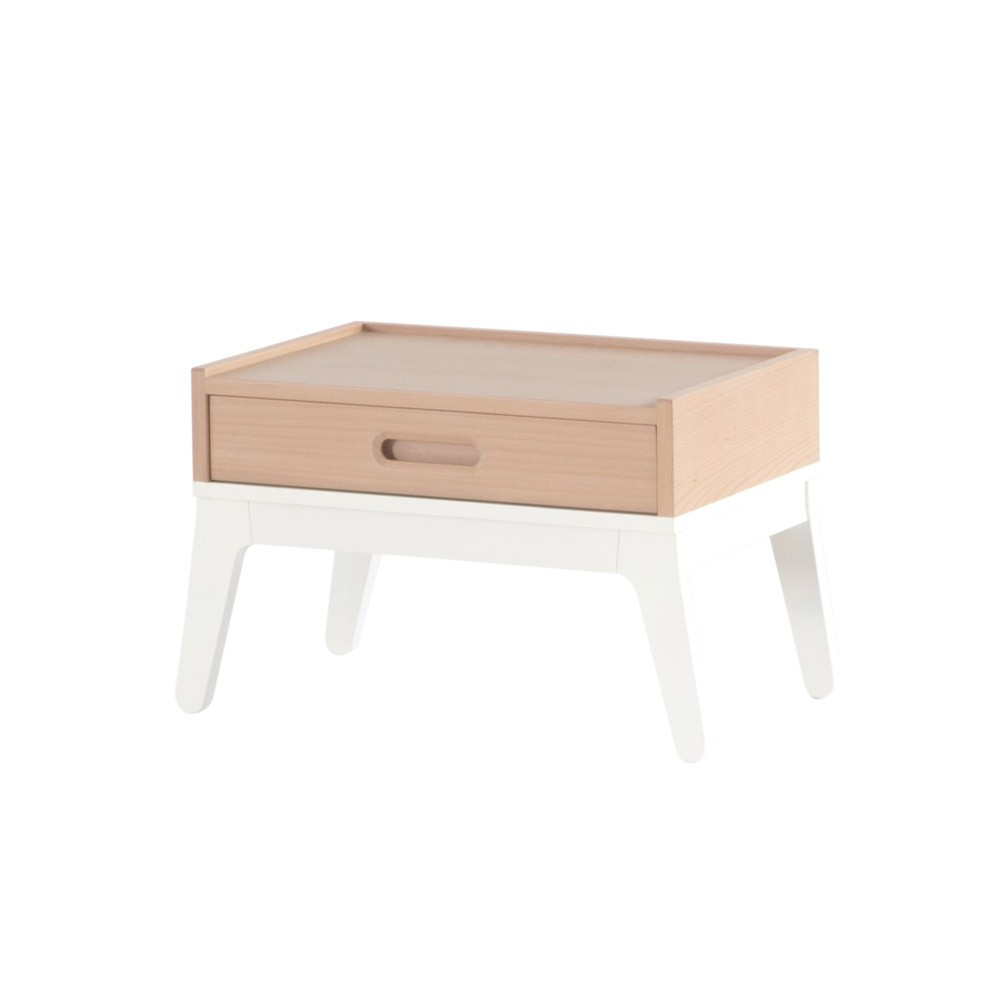 table de nuit blanc nobodinoz design enfant. Black Bedroom Furniture Sets. Home Design Ideas