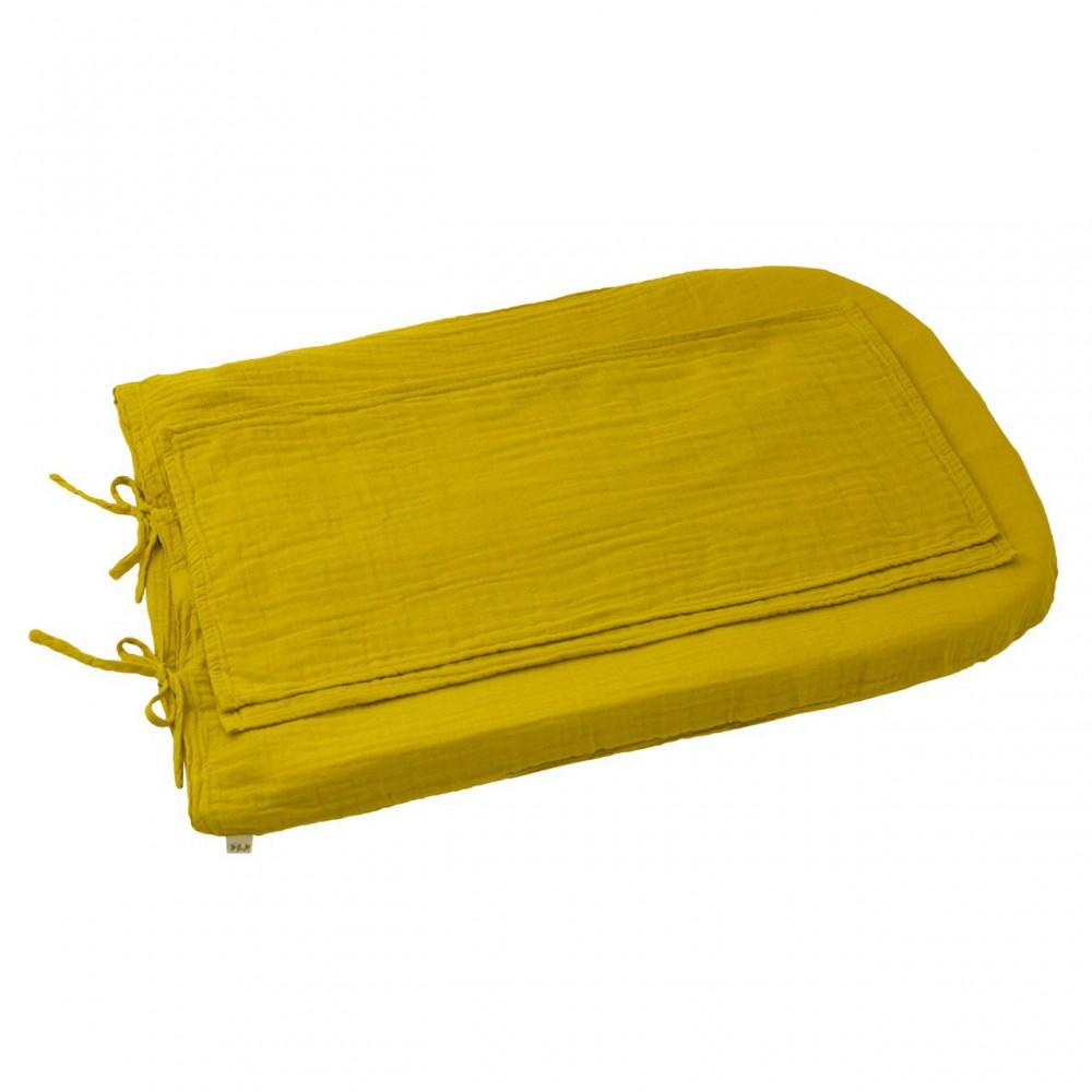 Housse de matelas langer rond jaune tournesol numero 74 for Lavage housse matelas