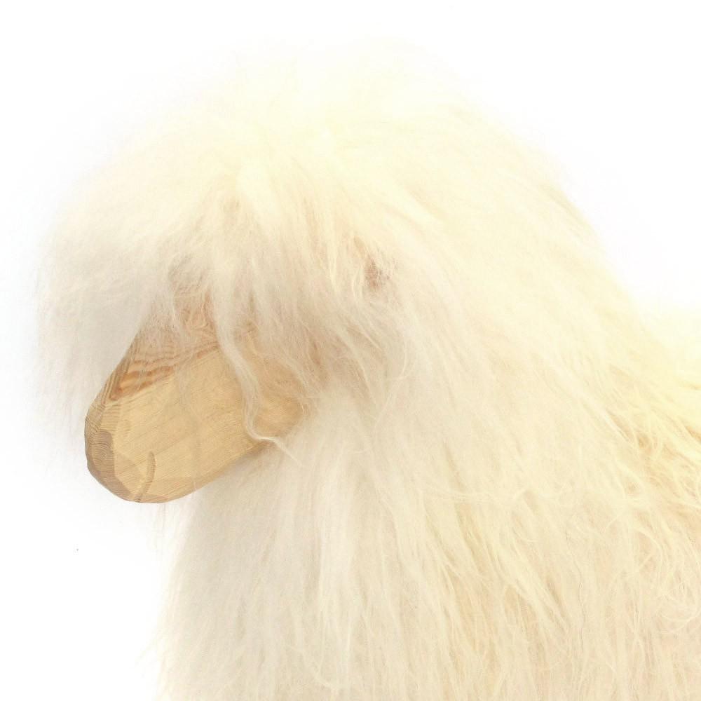 mouton bascule blanc blanc danish crafts povl kjer. Black Bedroom Furniture Sets. Home Design Ideas