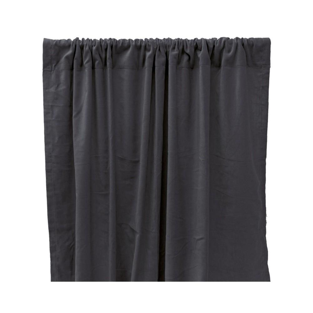 rideau occultant en velours de coton gris anthracite liv. Black Bedroom Furniture Sets. Home Design Ideas