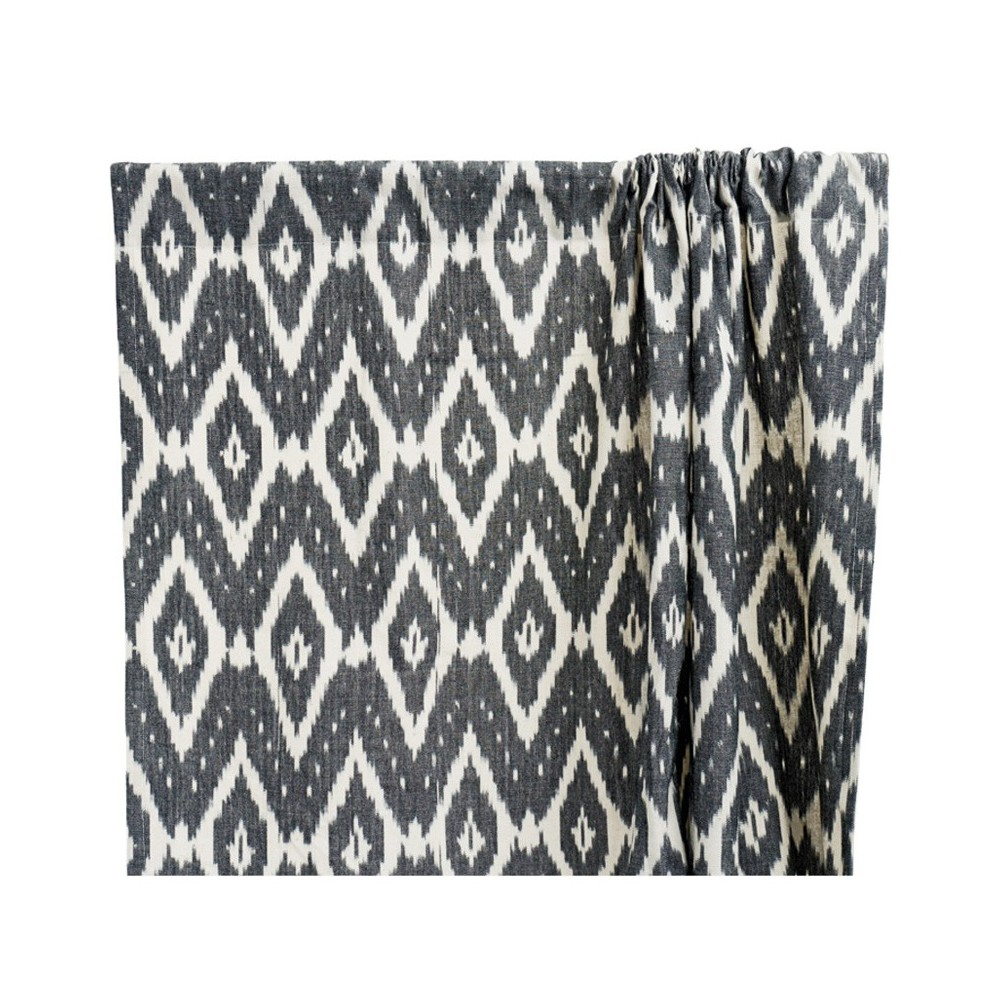 rideau en coton ikat gris anthracite liv interior design. Black Bedroom Furniture Sets. Home Design Ideas