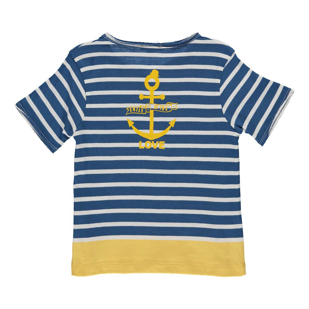 t shirt marin bleu marine emile et ida mode b b enfant. Black Bedroom Furniture Sets. Home Design Ideas
