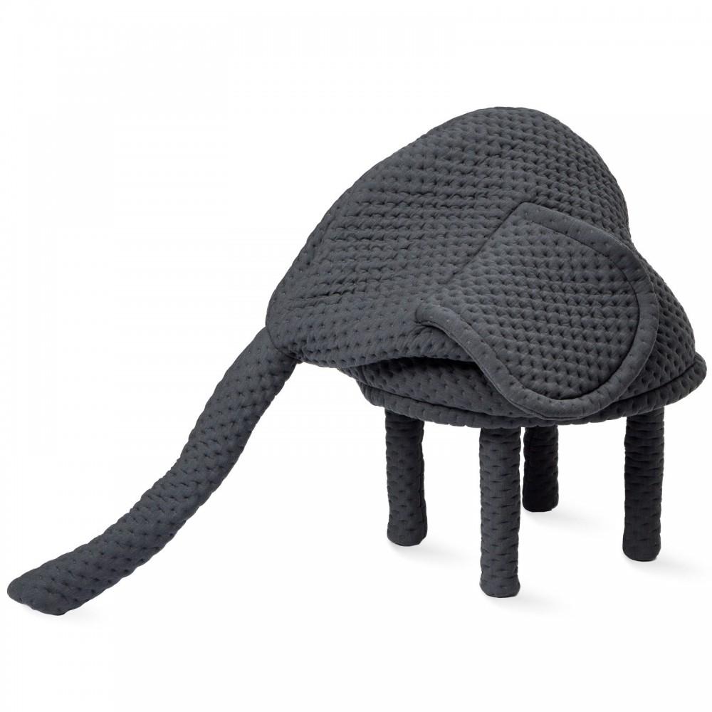 tabouret petstools ella l phant gris anthracite petite. Black Bedroom Furniture Sets. Home Design Ideas