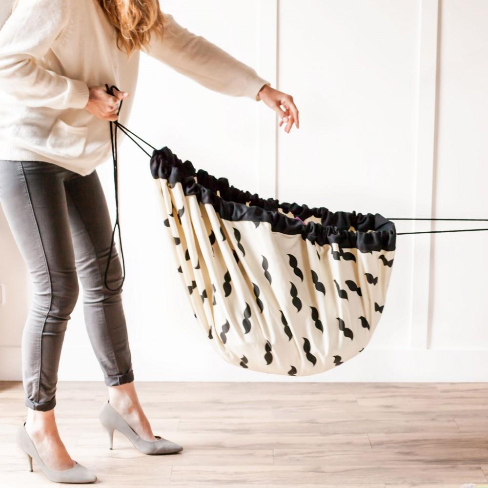 bolsa alfombra de juego bigotes negro play and go juguetes y. Black Bedroom Furniture Sets. Home Design Ideas
