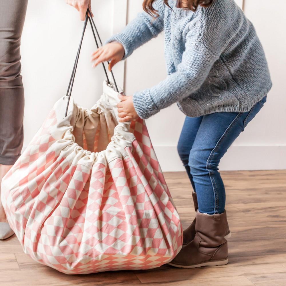 sac tapis de jeux losanges rose play and go design enfant. Black Bedroom Furniture Sets. Home Design Ideas