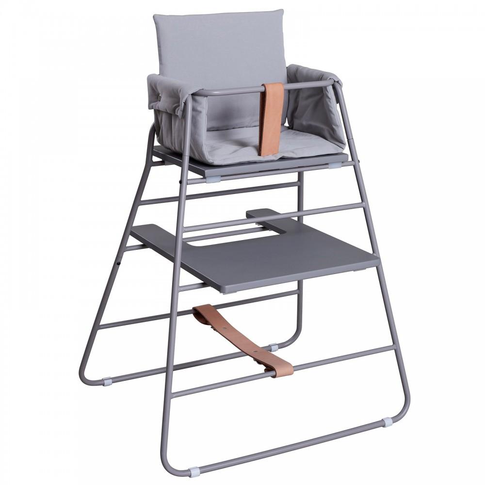 chaise haute towerchair gris budtzbendix design b b. Black Bedroom Furniture Sets. Home Design Ideas
