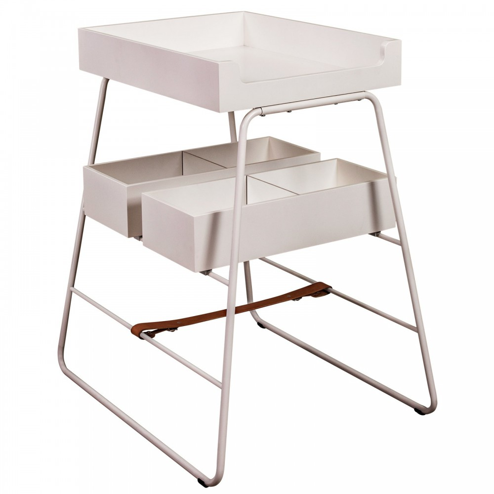 wickeltisch changing tower weiss wei budtzbendix design. Black Bedroom Furniture Sets. Home Design Ideas
