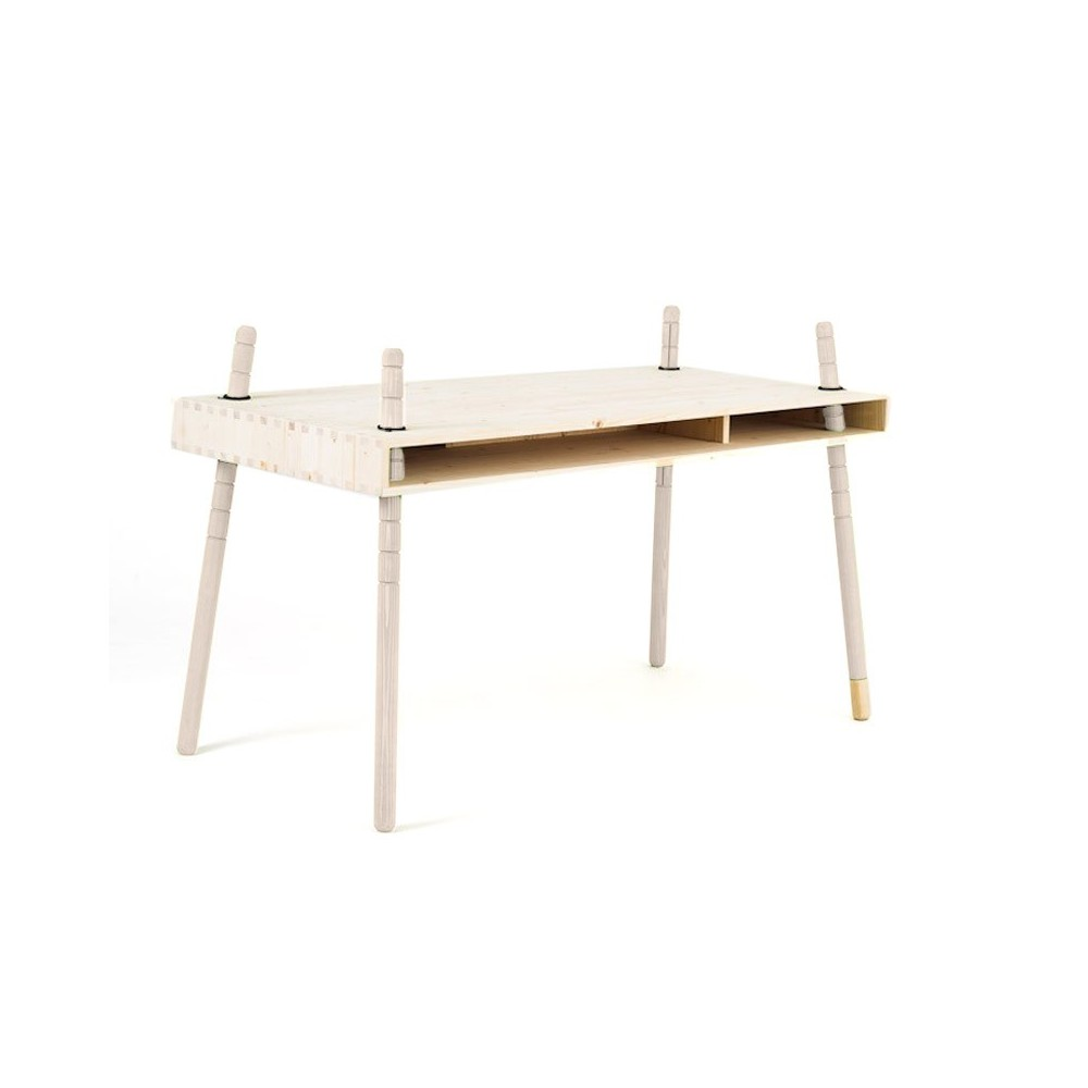 schreibtisch caspar weiss wei perludi design kind. Black Bedroom Furniture Sets. Home Design Ideas