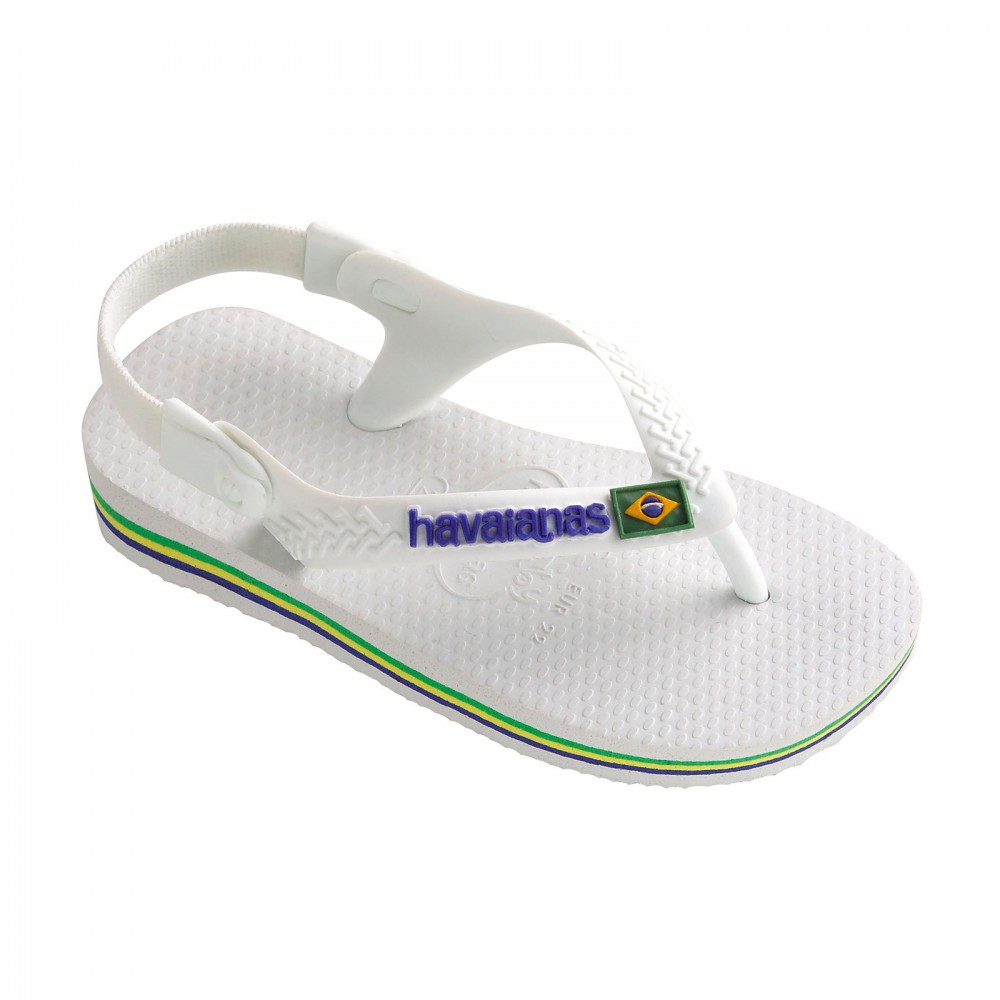 tongs baby brasil logo blanc havaianas chaussure b b enfant. Black Bedroom Furniture Sets. Home Design Ideas