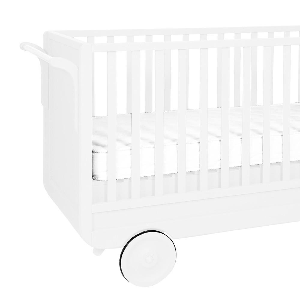 lit volutif roulotte 60x120 cm blanc laurette design b b. Black Bedroom Furniture Sets. Home Design Ideas
