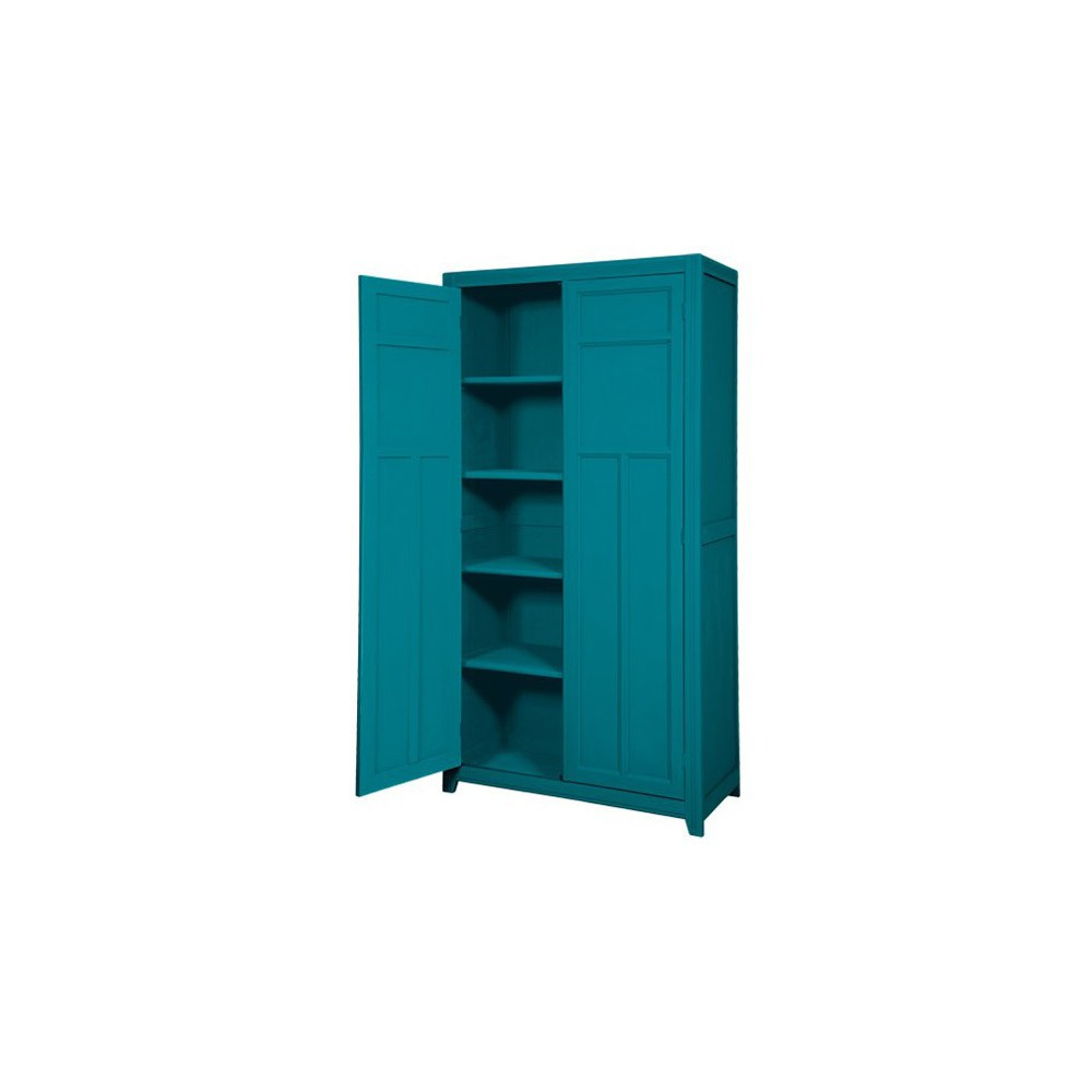 armoire parisienne bleu canard laurette design enfant. Black Bedroom Furniture Sets. Home Design Ideas