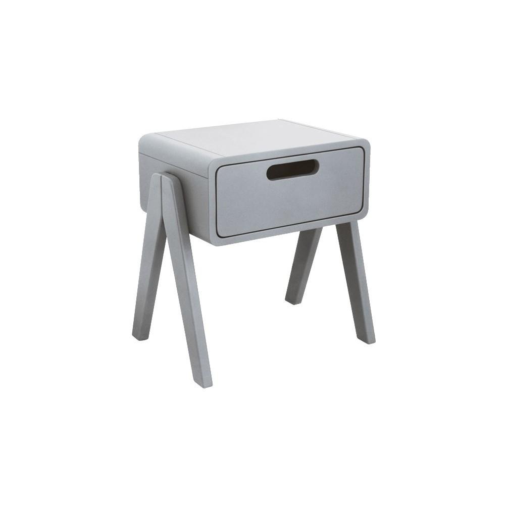 table de chevet petit robot gris clair laurette design enfant. Black Bedroom Furniture Sets. Home Design Ideas