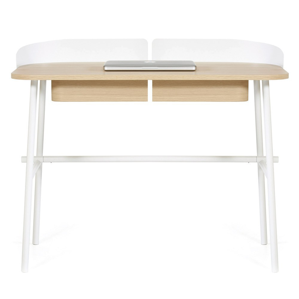 bureau victor blanc hart design adulte. Black Bedroom Furniture Sets. Home Design Ideas