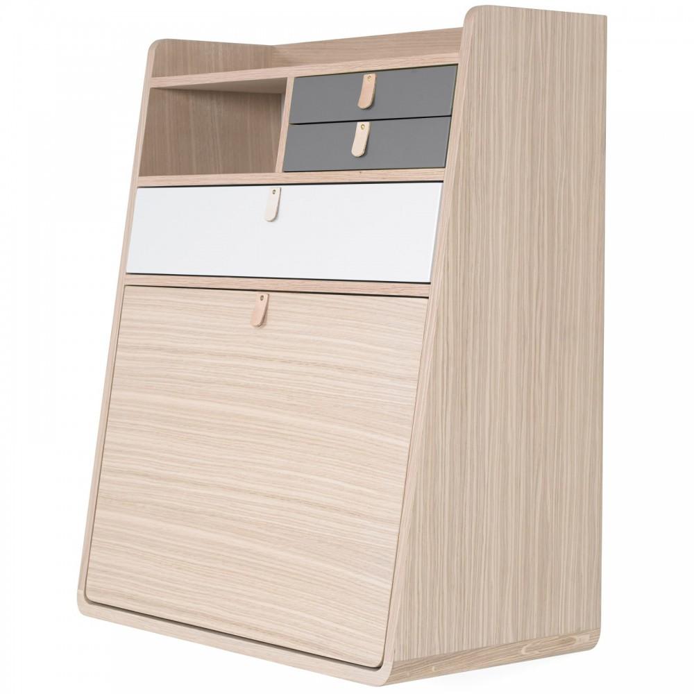 Hartô Wand-Schreibtisch Gaston-schiefergrau und hellgrau -product