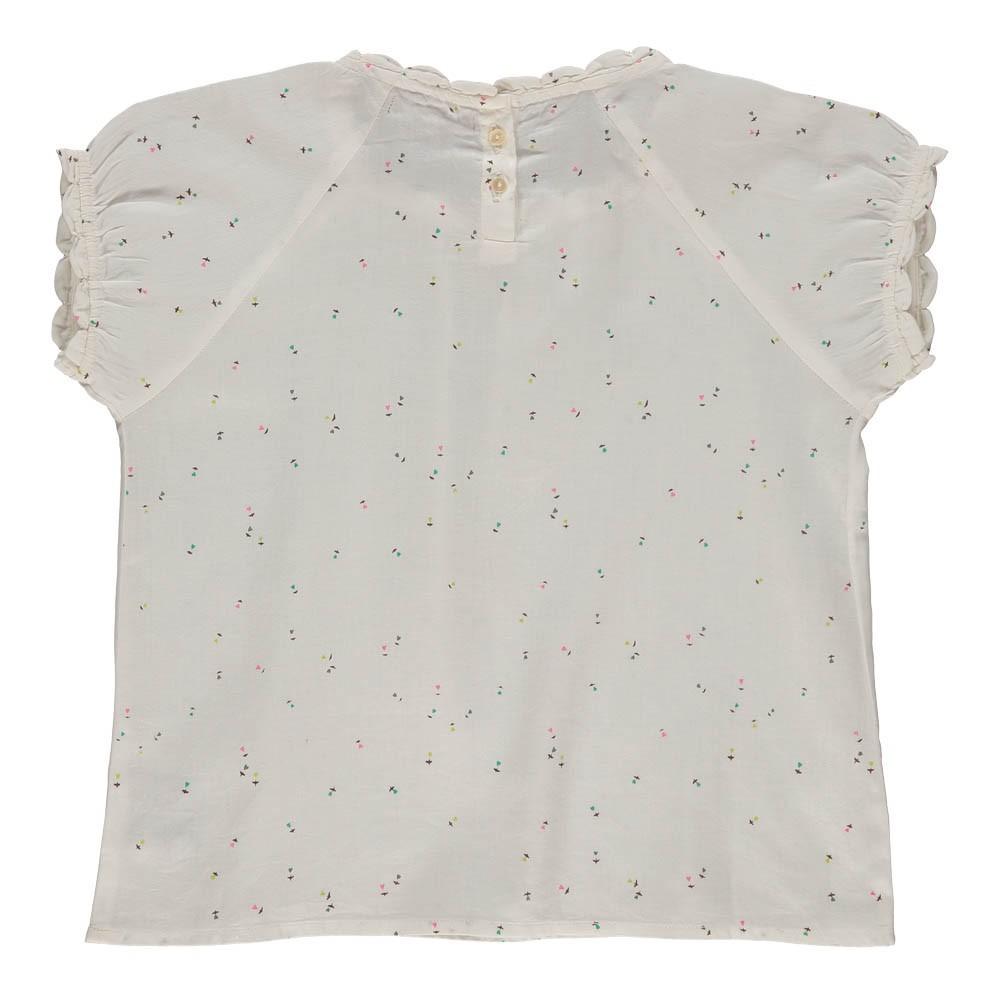 blouse satin de coton c urs blanc emile et ida mode adolescent. Black Bedroom Furniture Sets. Home Design Ideas