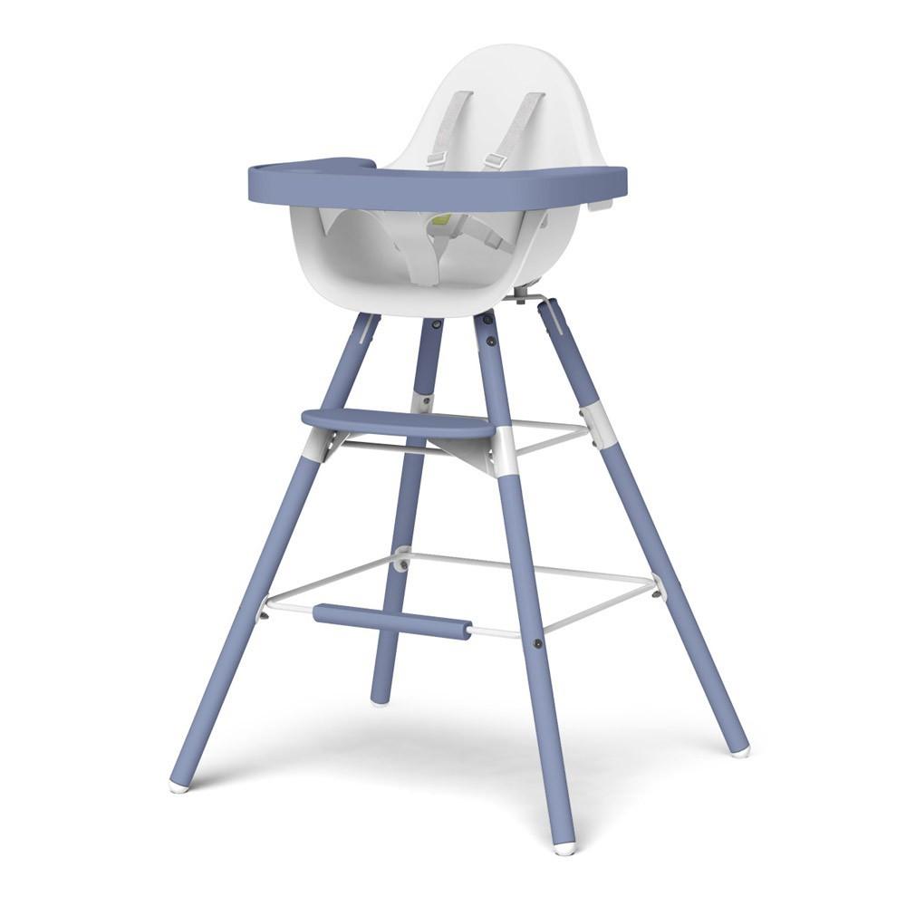 chaise haute volutive evolu blanc bleu childwood design. Black Bedroom Furniture Sets. Home Design Ideas