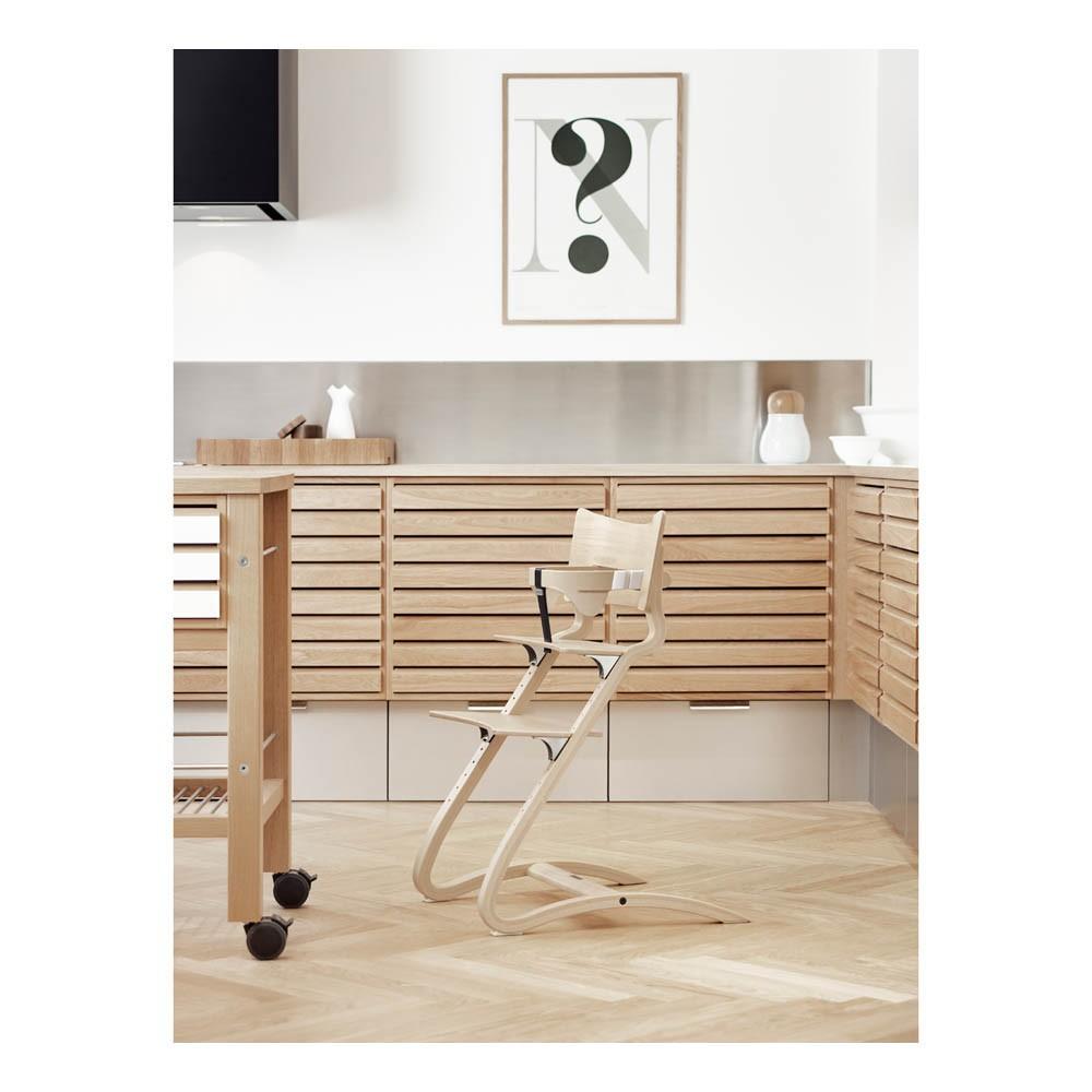 chaise haute avec arceau naturel leander design b b. Black Bedroom Furniture Sets. Home Design Ideas