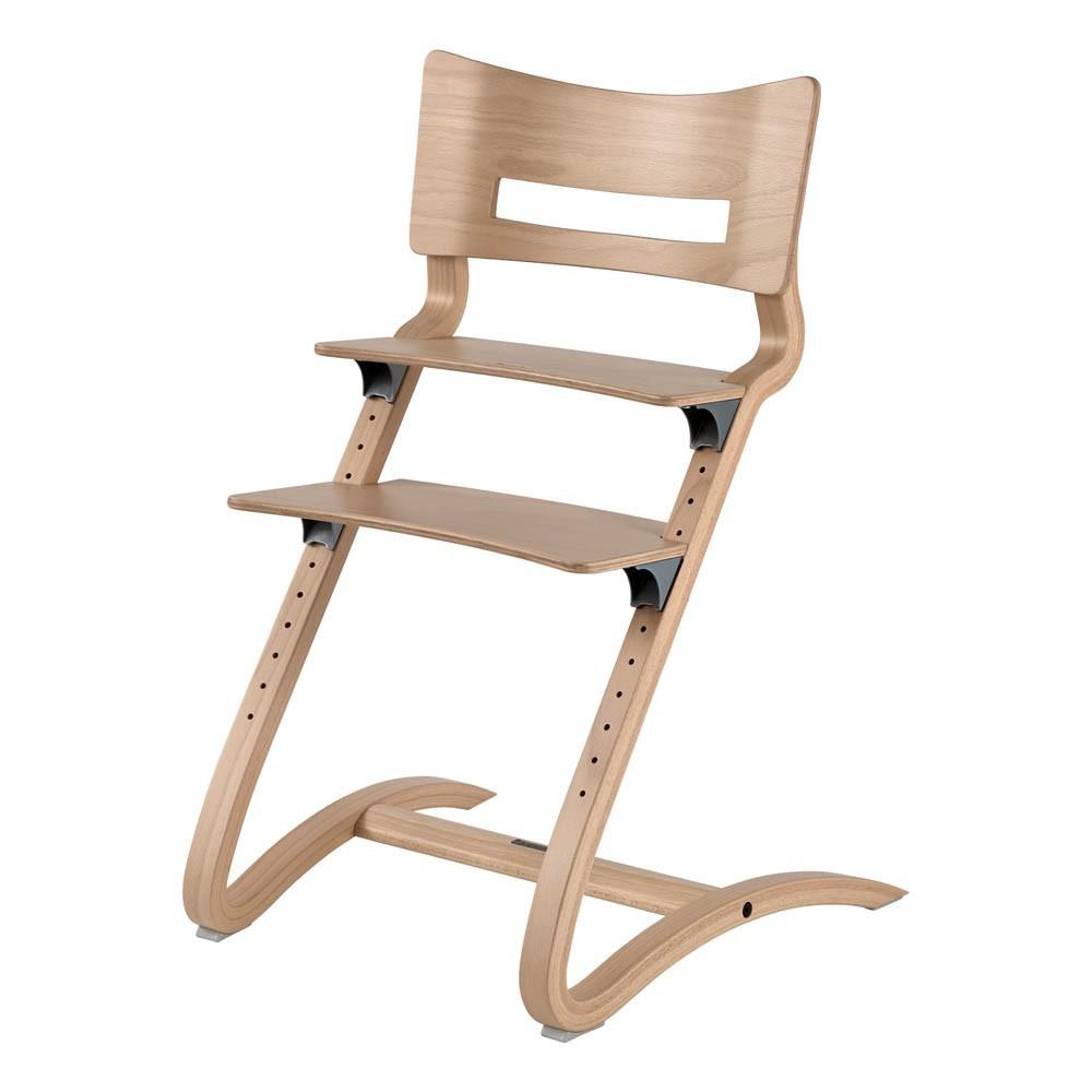 Chaise haute avec arceau naturel leander design b b - Chaise haute avec accoudoir ...