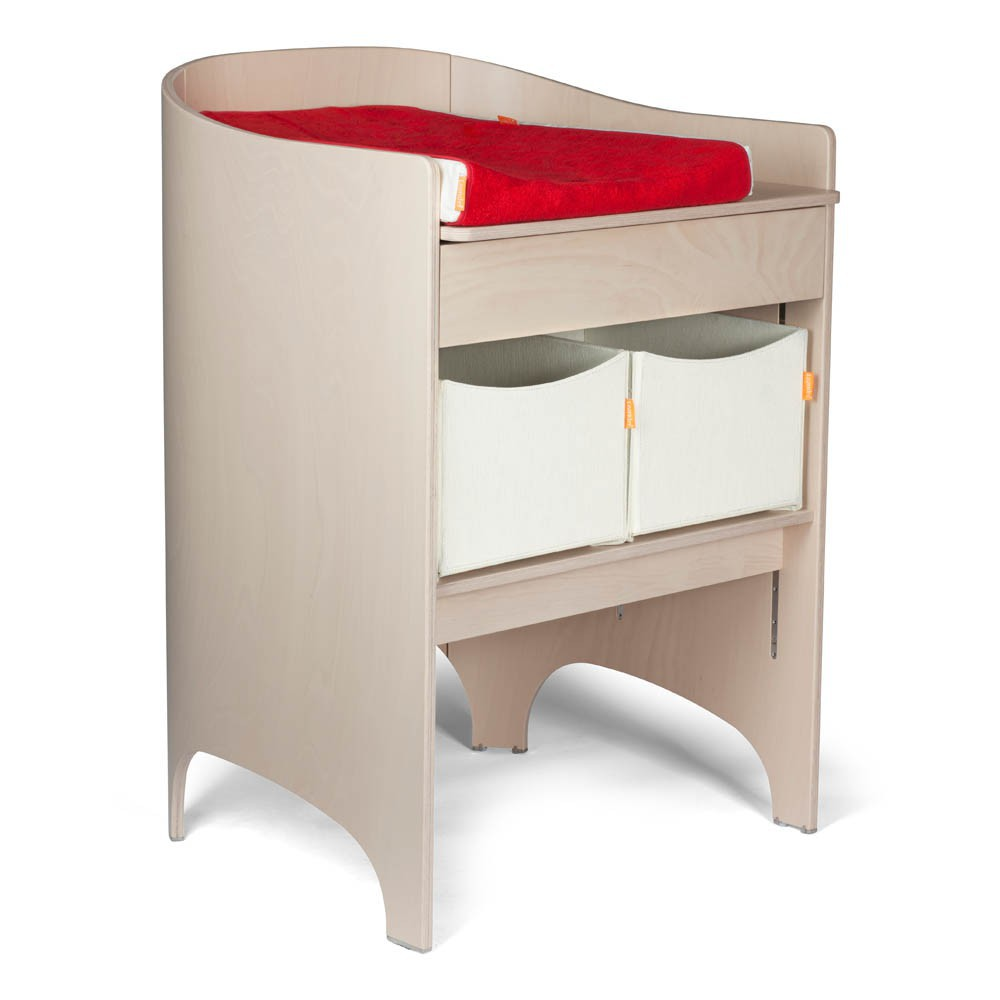 Table langer volutive beige c rus leander design b b - Hauteur table a langer ...