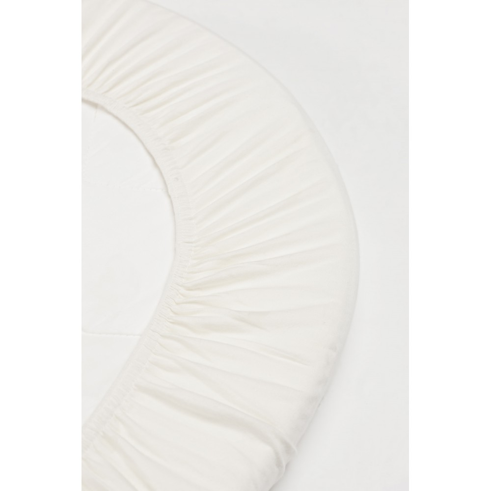 Drap housse lit junior ovale set de 2 blanc leander design for Drap housse pour lit evolutif