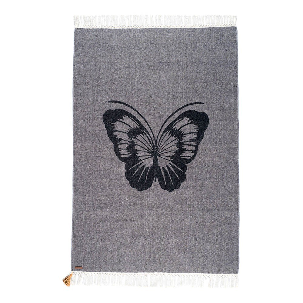 Teppich Gypsy aus Baumwolle  Schmetterling Varanassi