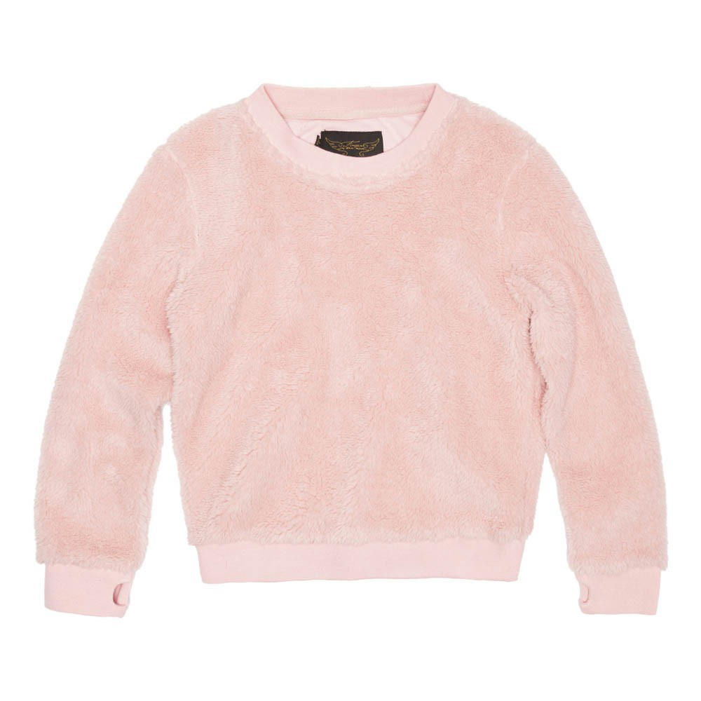 Violetta Fur Sweatshirt Pale pink Finger in the nose Fashion Teen