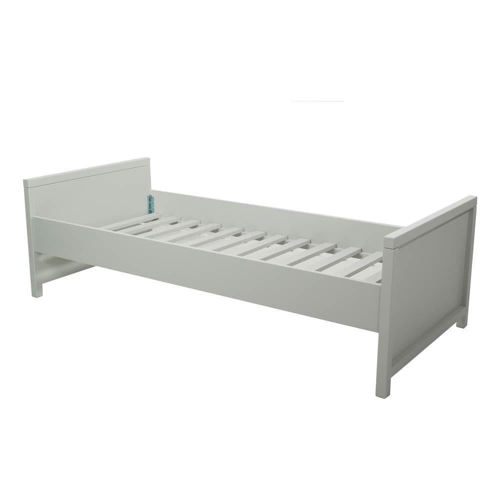 Lit enfant joy 90x200 cm gris clair quax design enfant for Lit enfant quax