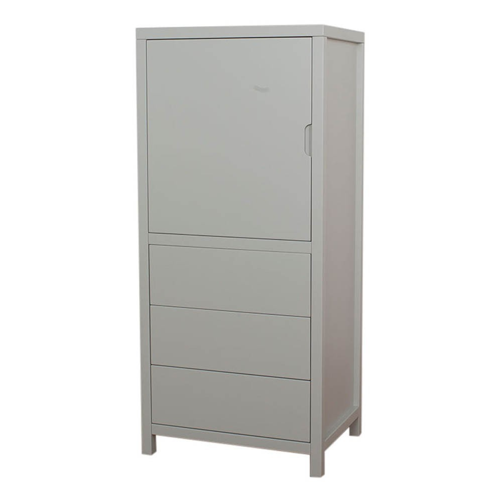 armoire 1 porte 3 tiroirs joy gris clair quax design enfant. Black Bedroom Furniture Sets. Home Design Ideas