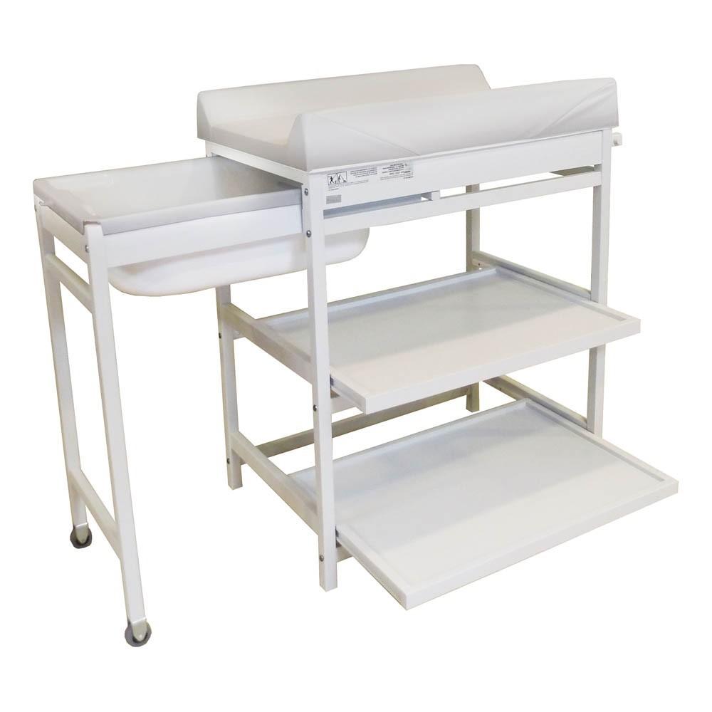 Table langer comfort baignoire et matelas blanc quax design for Table a langer baignoire