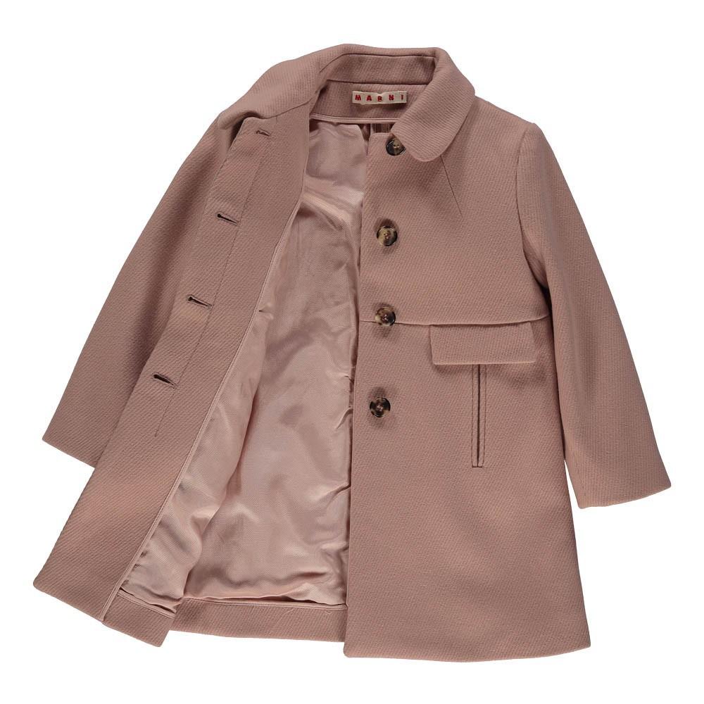 manteau drap de laine rose poudr marni mode adolescent enfant. Black Bedroom Furniture Sets. Home Design Ideas